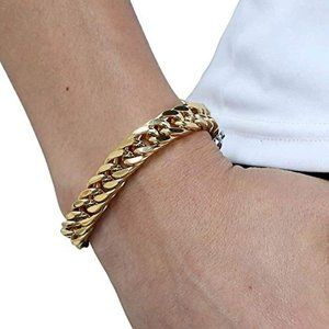 Other - Heavy Mens Bracelet Chain 316L Stainless Steel Sil